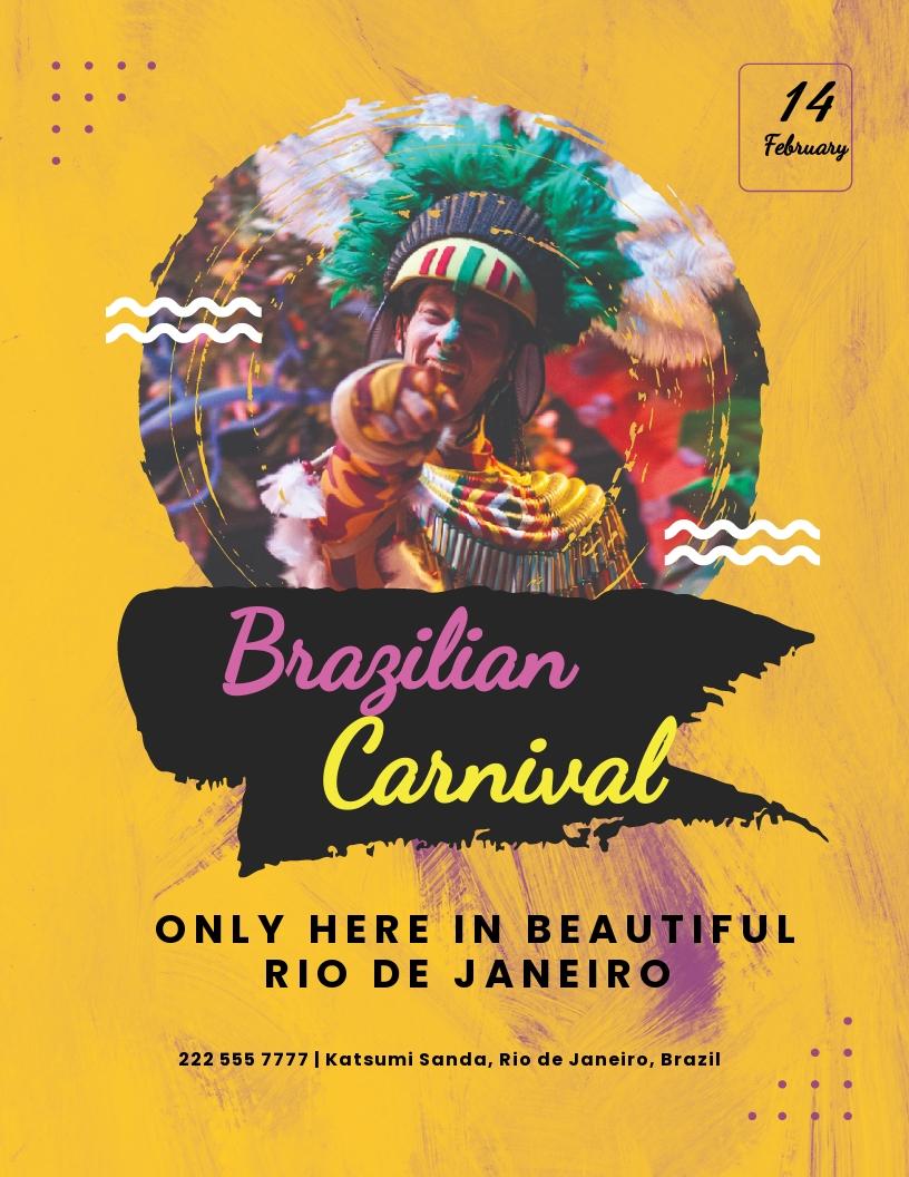 Brazilian Carnival Flyer Template.jpe