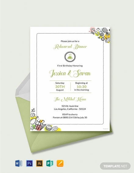image about Printable Rehearsal Dinner Invitations referred to as Absolutely free Printable Rehearsal Meal Invitation Template - Term