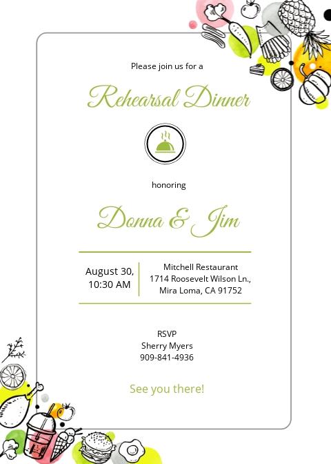 Printable Rehearsal Dinner Invitation Template