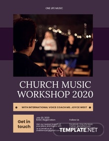 Church Music Workshop Flyer Template