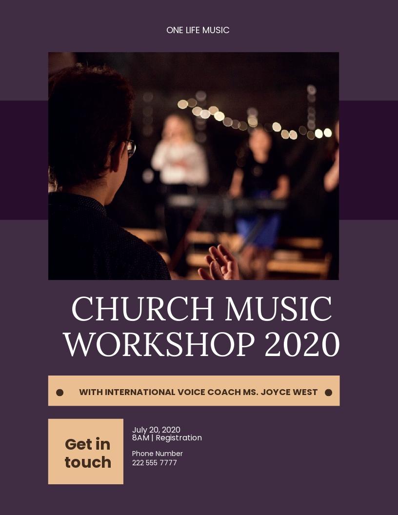 Church Music Workshop Flyer Template.jpe