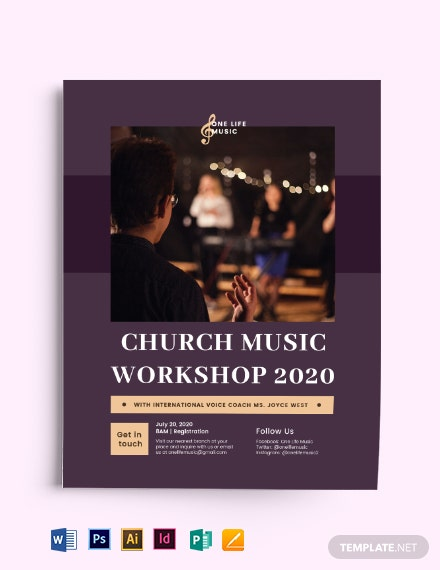 Church Music Workshop Flyer Template