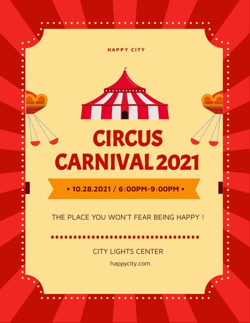 Circus Carnival Flyer Template.jpe
