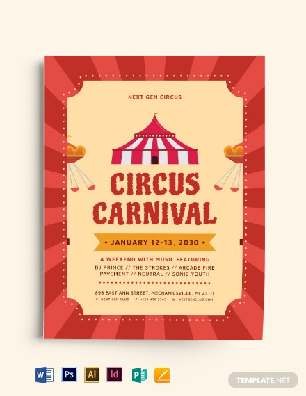 Circus Carnival Flyer Template