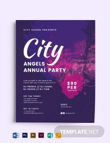 City Angels Party Flyer Template