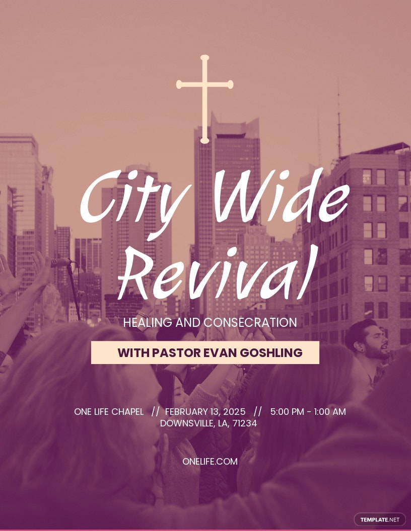 City Wide Revival Church Flyer Template