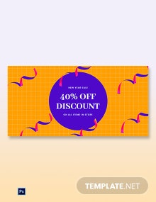 Free Holiday Discount Sale Blog Post Template