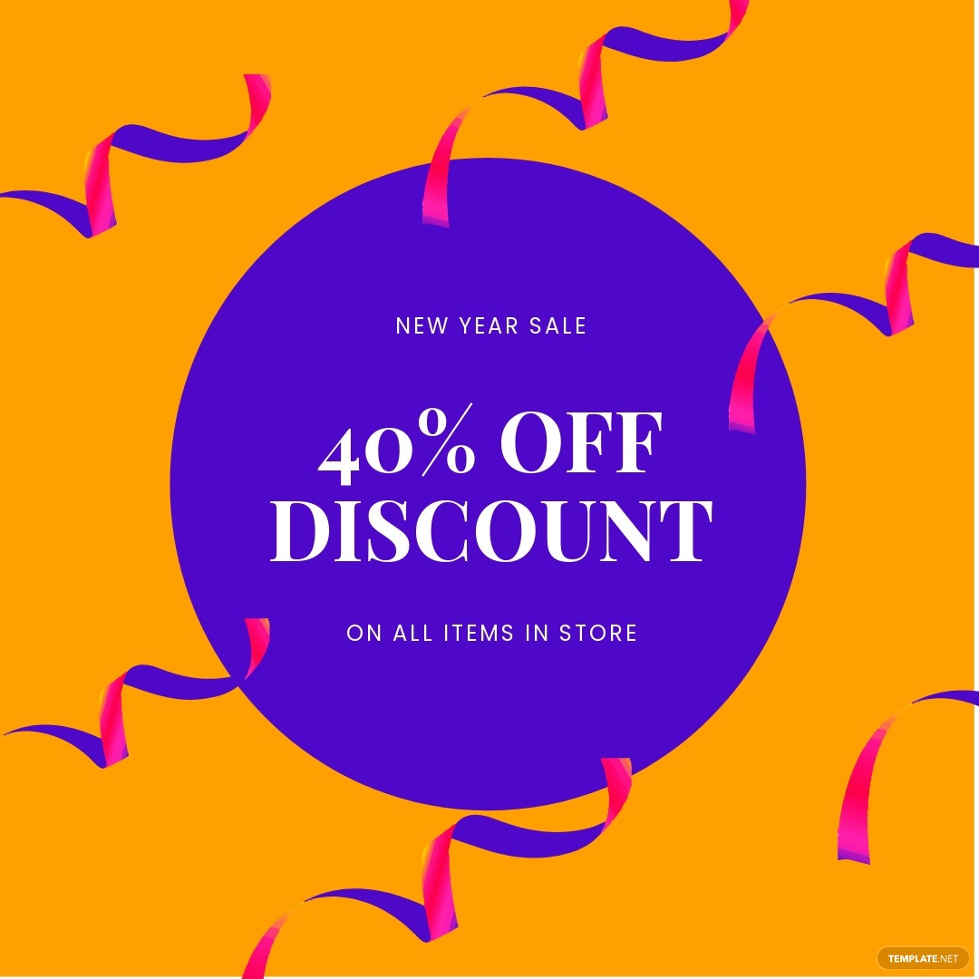 Free Holiday Discount Sale Instagram Post Template.jpe
