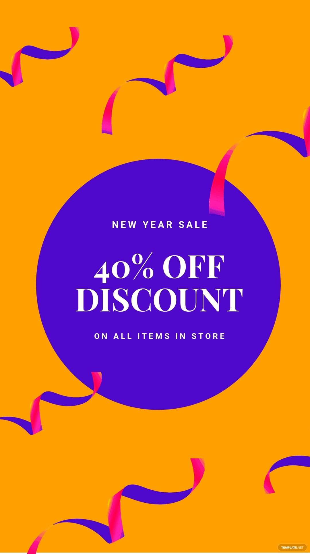 Free Holiday Discount Sale Instagram Story Template