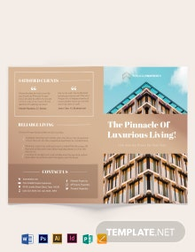 Luxury Apartment/Condo Bi-fold Brochure Template