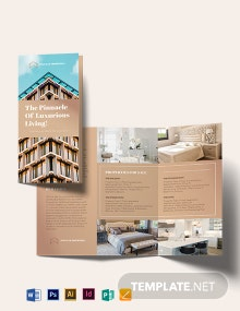 Luxury Apartment/Condo Tri-fold Brochure Template
