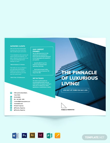 Apartment/Condo Marketing Bi-fold Brochure Template