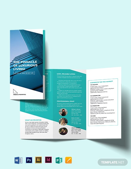 Apartment/Condo Marketing Tri-fold Brochure Template