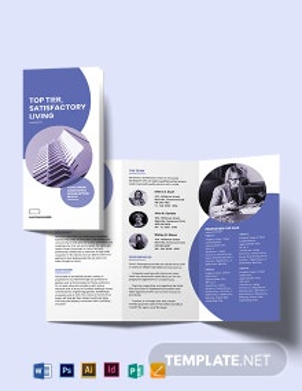 Apartment/Condo Development Tri-fold Brochure Template