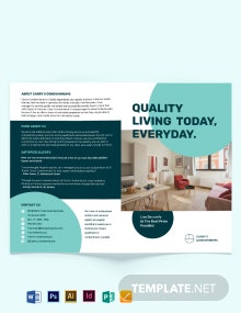 Apartment/Condo Sale Bi-fold Brochure Template