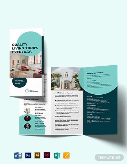 apartment condo sale tri fold brochure