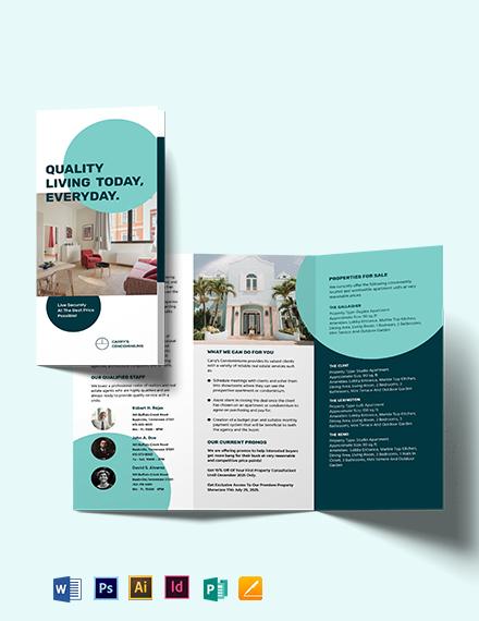 Apartment/Condo Sale Tri-fold Brochure Template