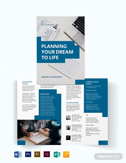 Estate Planning Bi-Fold Brochure Template