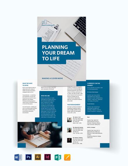 Estate Planning Bi-Fold Brochure Template