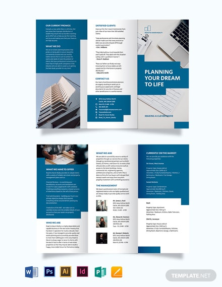 Estate Planning Tri-Fold Brochure Template