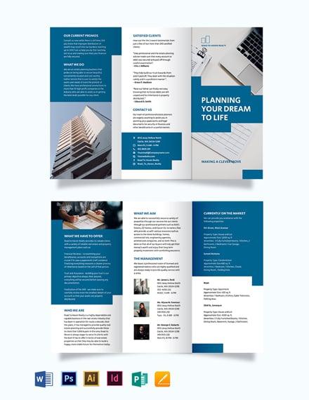 estate planning tri fold brochure
