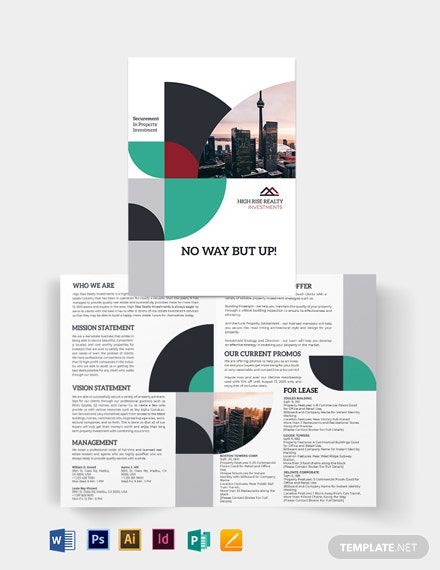 Commercial Real Estate Investor Bi-Fold Brochure Template