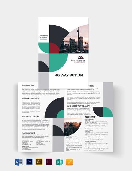 Commercial Real Estate Investor Bi-Fold Brochure Template