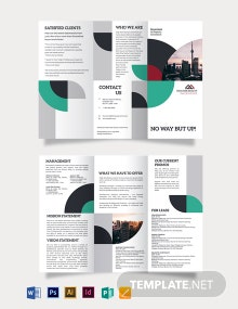 Commercial Real Estate Investor Tri-Fold Brochure Template