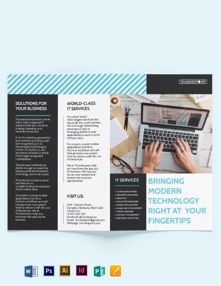 IT Services Bi-Fold Brochure Template