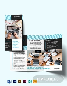 IT Services Tri-Fold Brochure Template