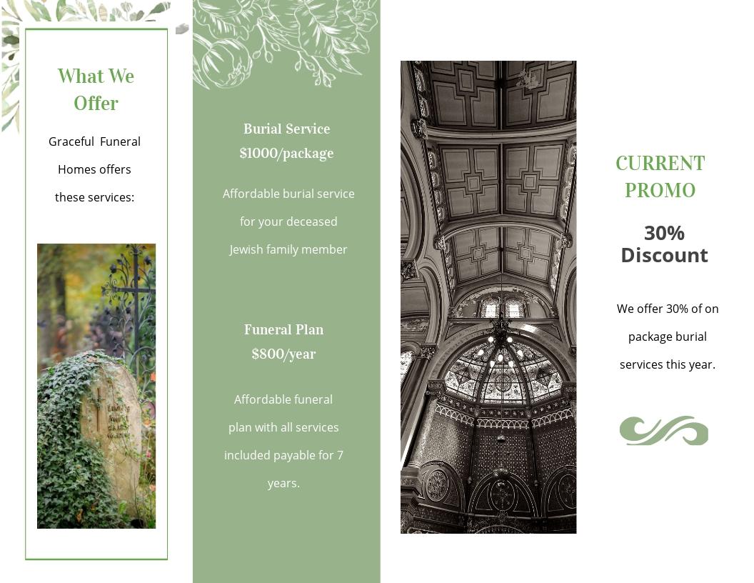 Jewish Funeral Memorial Bi fold Brochure Template 1.jpe