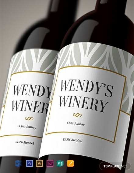 Free Wine Bottle Template
