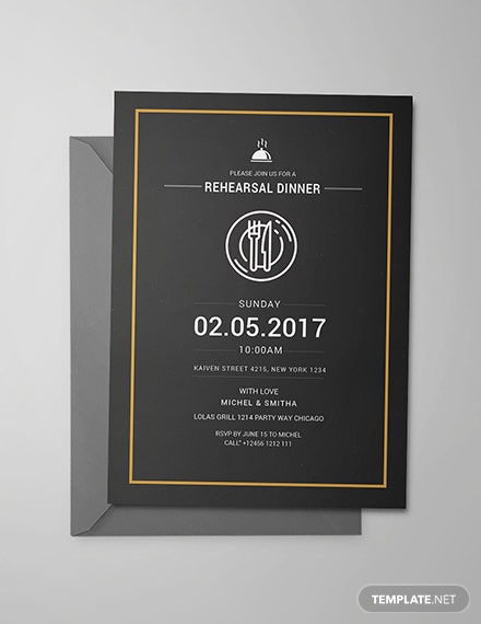 Free Rehearsal Dinner Party Invitation Template