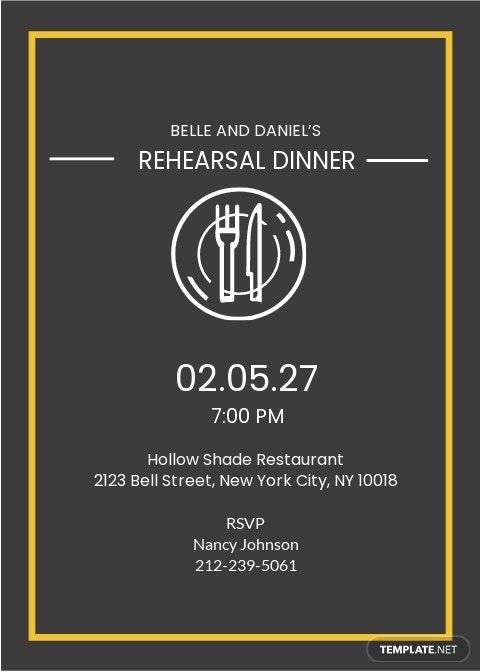 Rehearsal Dinner Party Invitation Template