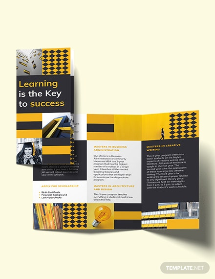 Program Tri-Fold Brochure Template