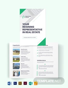 Real Estate Agent/ Agency Marketing Bi-Fold Brochure Template