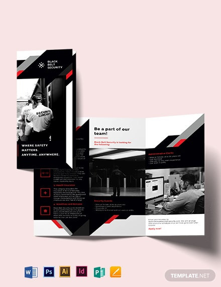 Security Guard Agency Tri-Fold Brochure Template