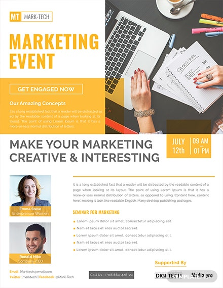 free marketing event flyer template 1x