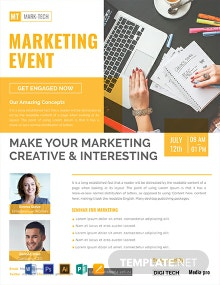Free Marketing Event Flyer Template