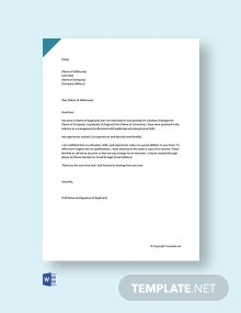 Free Business Manager Cover Letter