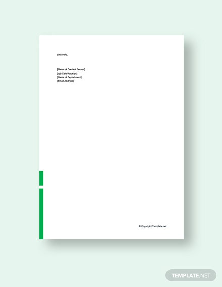 Business Proposal Cover Letter Template