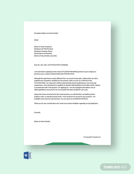 Free Career Change Cover Letter