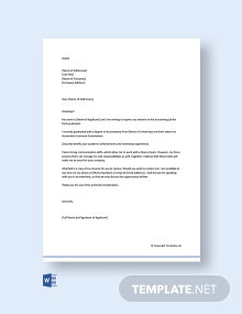 Free Cover Letter for Accounting Job Fresh Graduate
