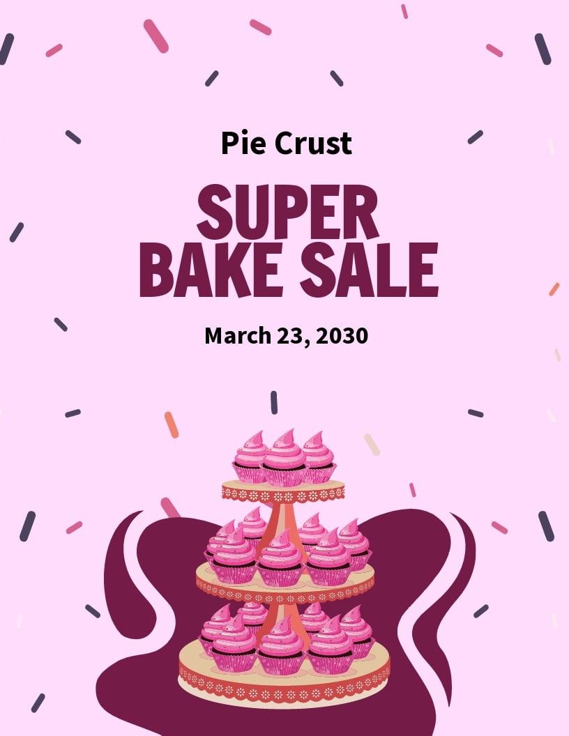 Modern Bake Sale Flyer Template