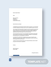 Free Entry-Level Finance Cover Letter