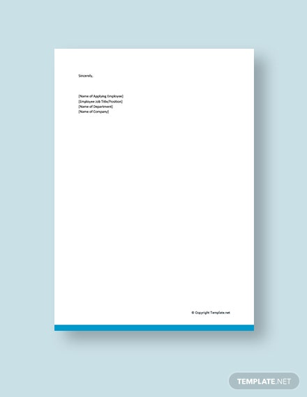 Internal Promotion Cover Letter Template