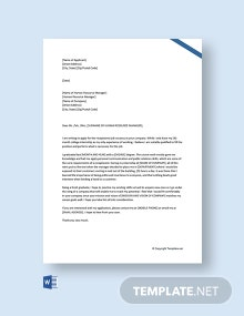 Free Job Application Letter For Receptionist