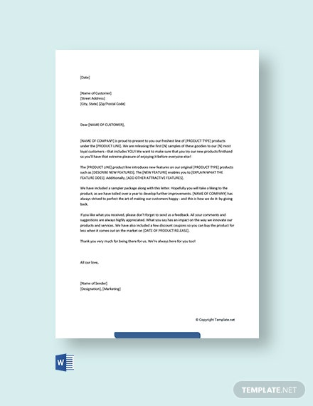 Free Marketing Letter