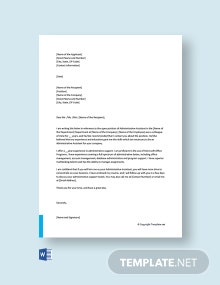 Free Administrative Assistant Cover Letter