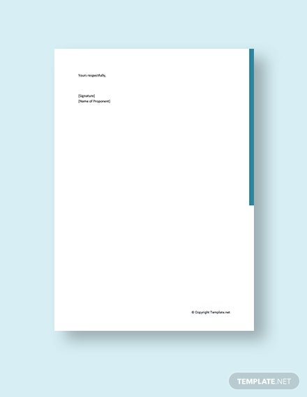 Business Plan Cover Letter to Bank Template